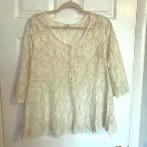 Free People lace blouse excellent condition size L